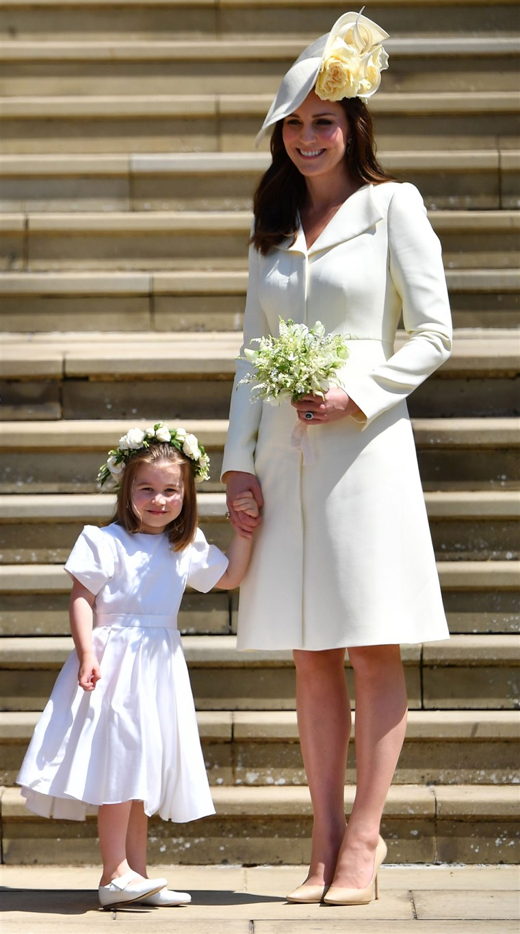 hertuginne Kate at the Royal Wedding of Prince Harry, Meghan Markle