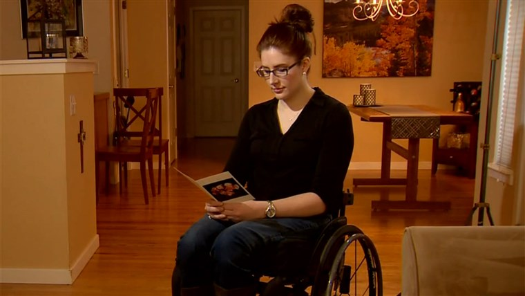 Anne Marie Hochhalter, a survivor from the Columbine High School attack