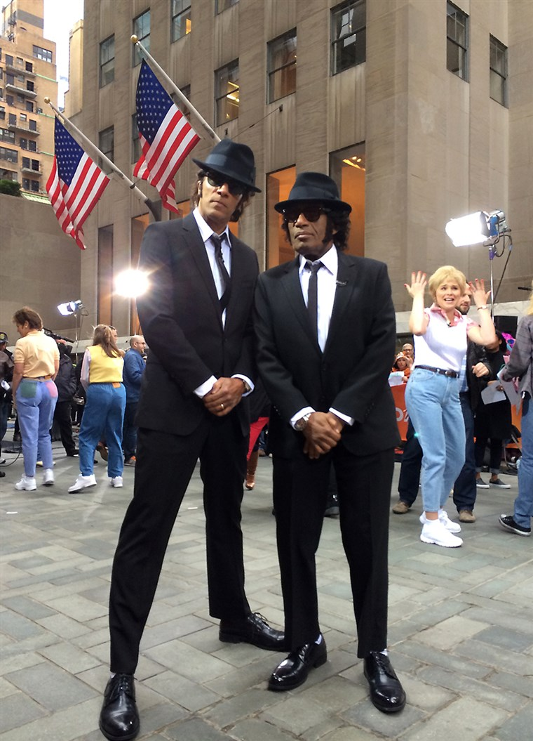 Al Roker and Lester Holt as The Blues Brothers