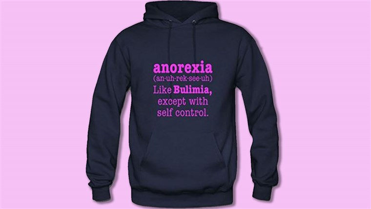 Amazon, anorexia sweatshirt