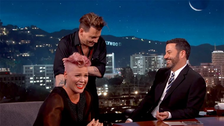Johnny Depp Surprises P!nk