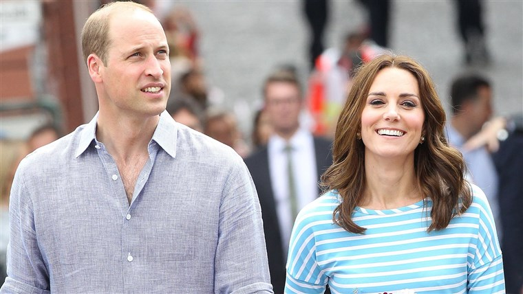 Principe William and his wife, Duchess Kate, the former Kate Middleton