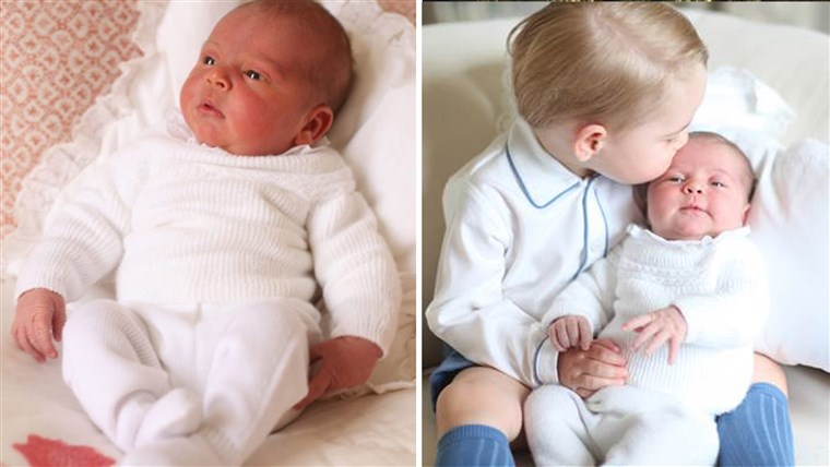 Putera Louis and Prince George with Princess Charlotte