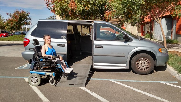 Maria Taloff doesn't drive, but still requires a wheelchair-accessible vehicle