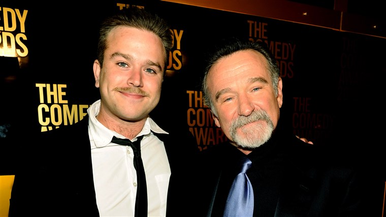 Zachary Pym Williams with Robin Williams