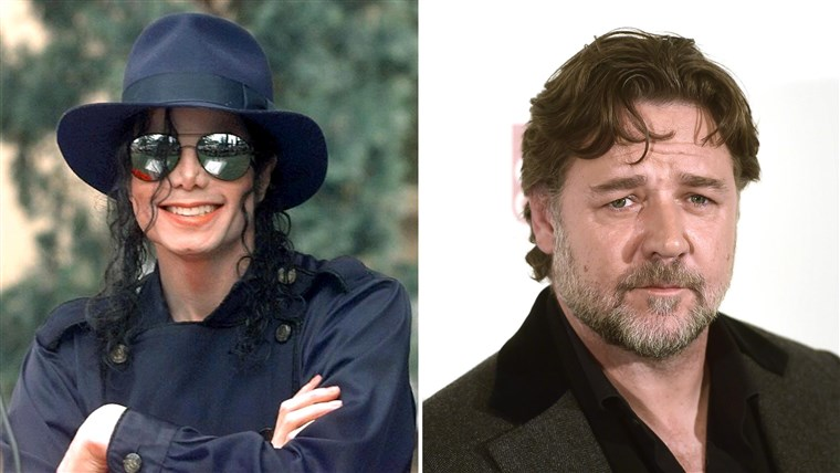 Michael Jackson and Russell Crowe.