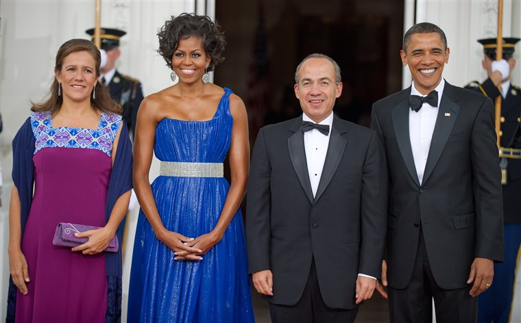 Michelle Obama state dinner style