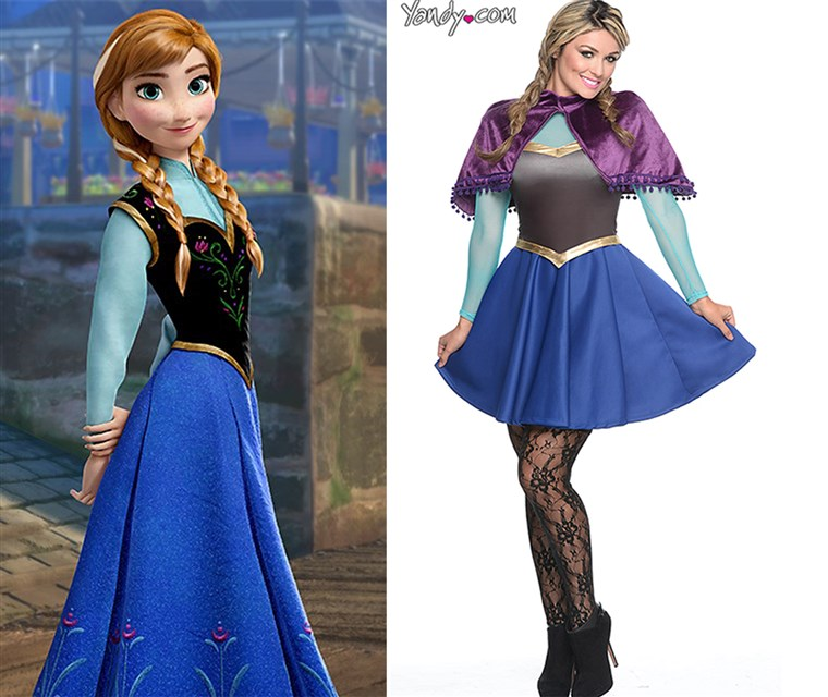 Anna from Frozen compared to her