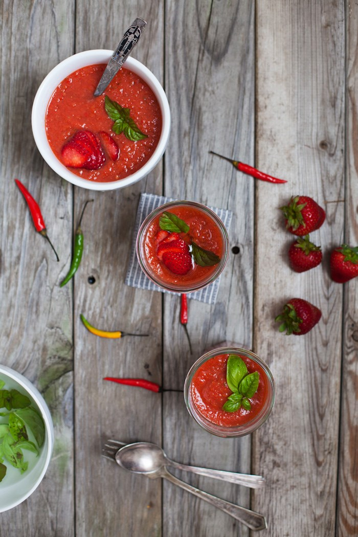 Pedas Strawberry Gazpacho