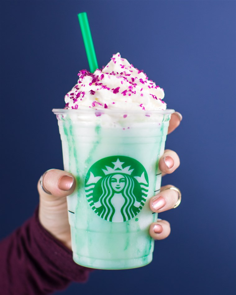 The Crystal Ball Frappuccino will only be available for four days.