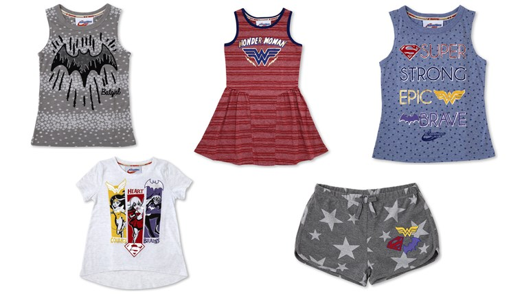 The collection also features clothes for girls.