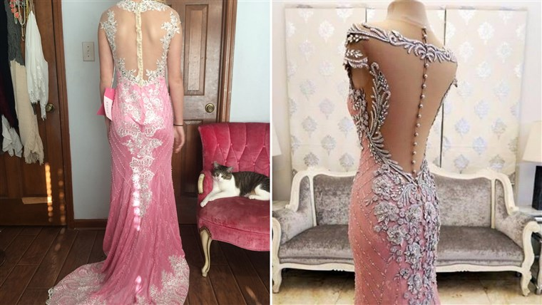 adolescente scammed on prom dress