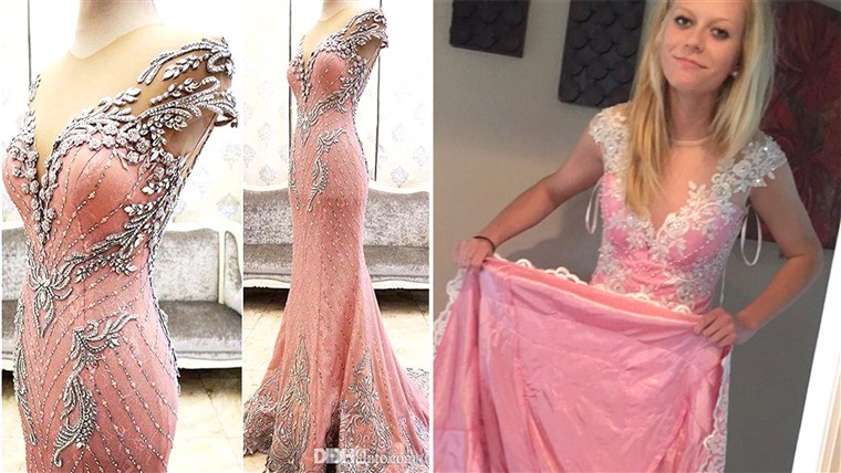 Teen buys prom dress online.