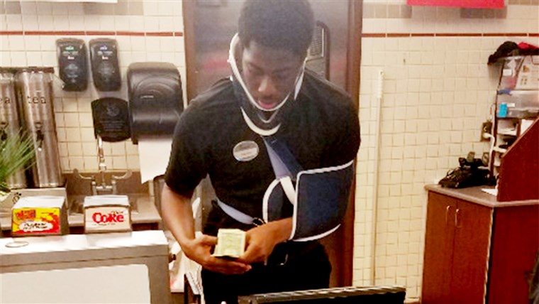 Teen Jakeem Tyler worked in spite of car-crash injuries to raise money for homeless