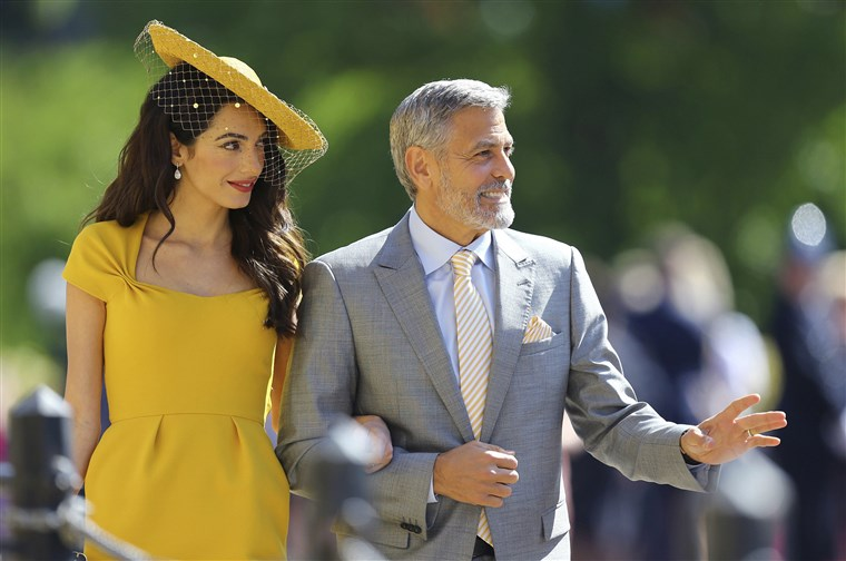 Amal Clooney and George Clooney at the royal wedding