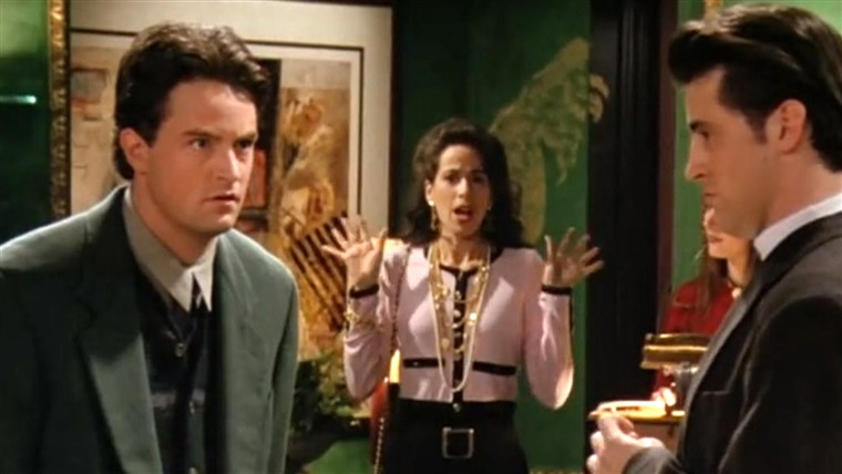 Janice and Chandler - Maggie Wheeler and Matthew Perry on