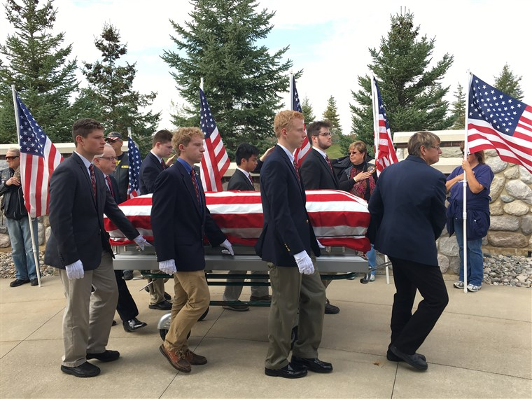 pallbearers for veterans kindness nice students