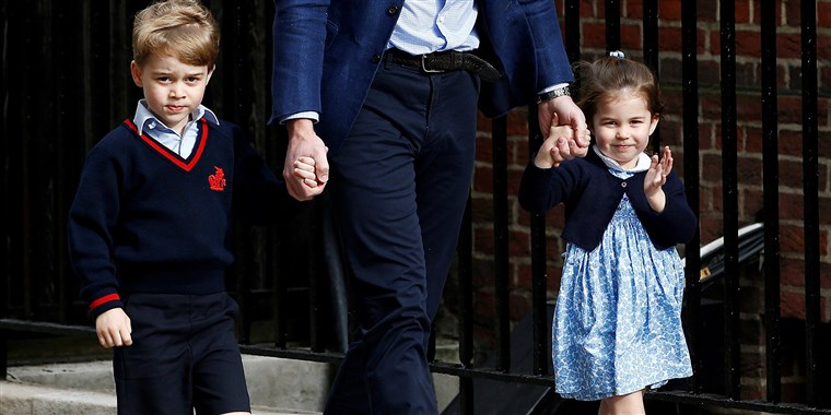Britain's Prince William, Prince George and Princess Charlotte