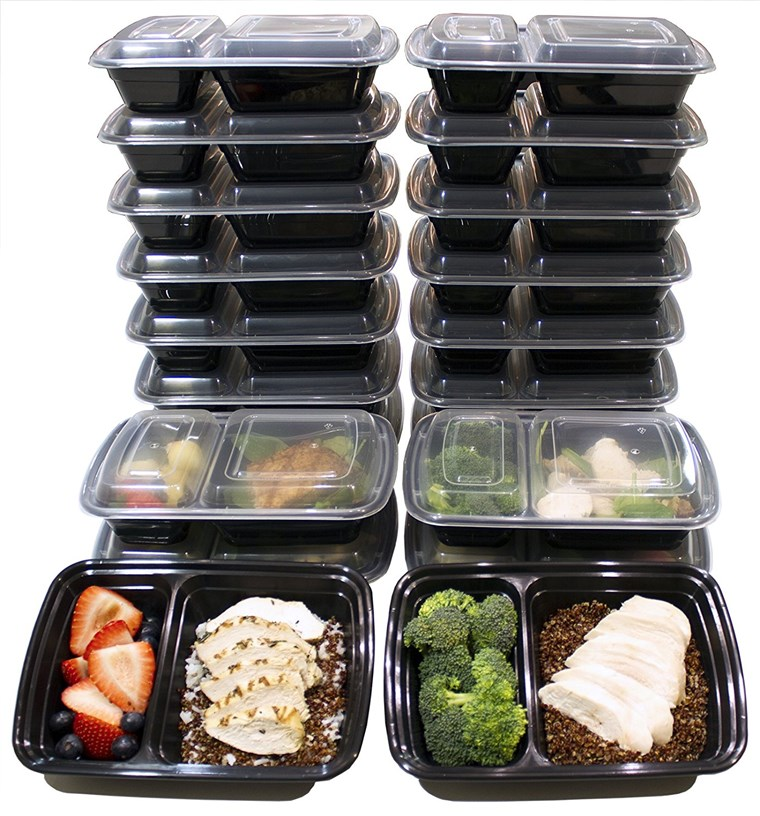 32 onças 2-Compartment Meal Prep Containers