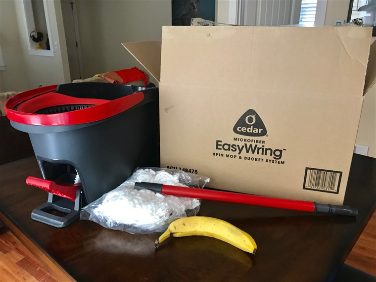 The O-Cedar EasyWring Microfiber Spin Mop and Bucket Floor Cleaning System