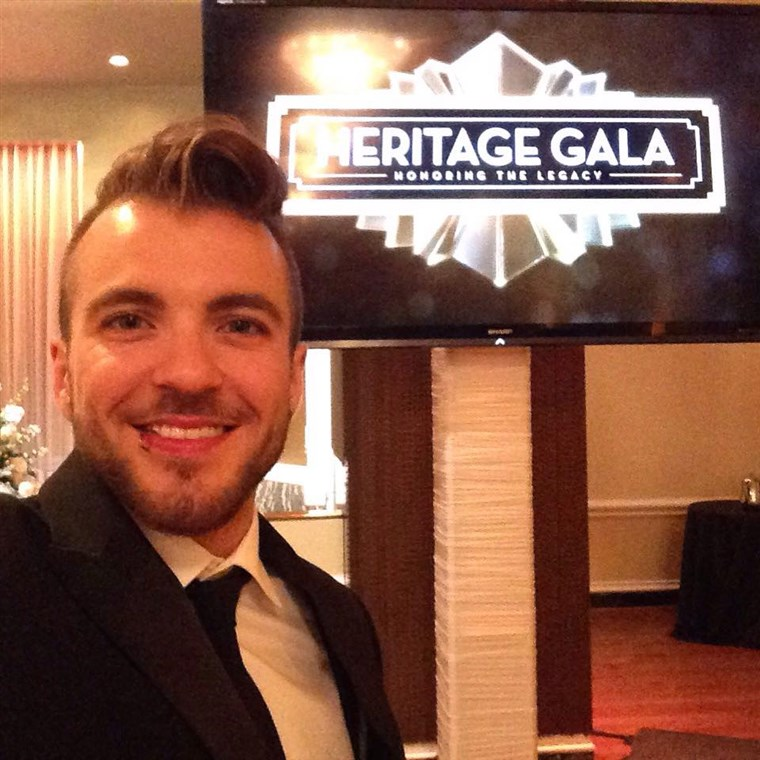 Aydian Dowling delivers the keynote speech at Pride Houston's Heritage Gala.