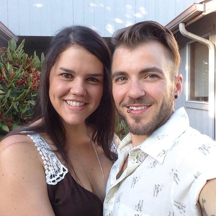 Aydian Dowling and his wife Jenilee, whom he married in 2012. She has been at his side since his third shot of hormones.