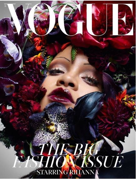 Rihanna eyebrows British Vogue