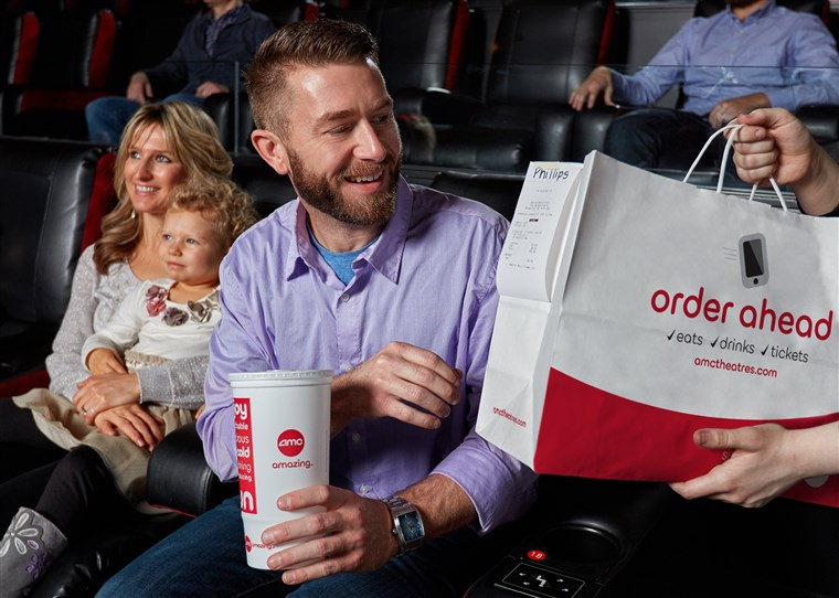 Empat theaters in the Midwest tested AMC's pilot program for an app that allows audiences to order movie-theater food in advance, according to The New York Times.