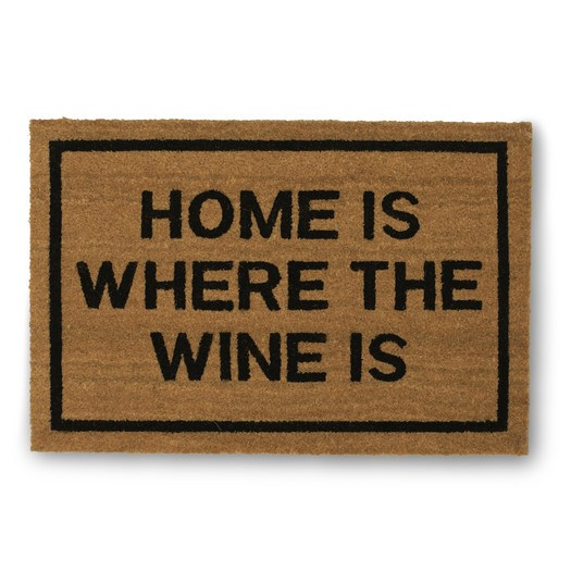 Hjem Is Where the Wine Is Doormat