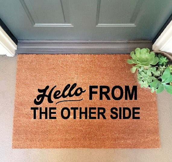 Hallo From The Other Side Doormat