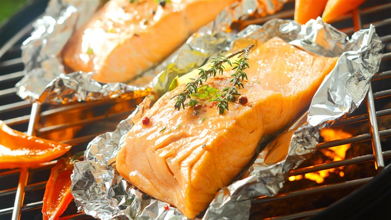 Salmon in aluminum foil