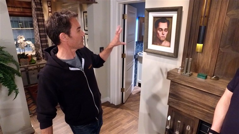 É that a painting of 'a brooding Will?' Eric McCormack has no idea who it actually is.