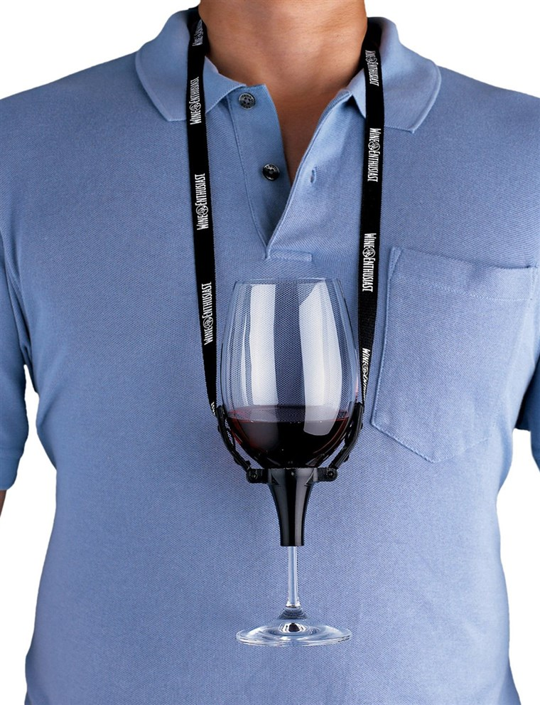 Wino Enthusiast Wine Glass Holder Necklace