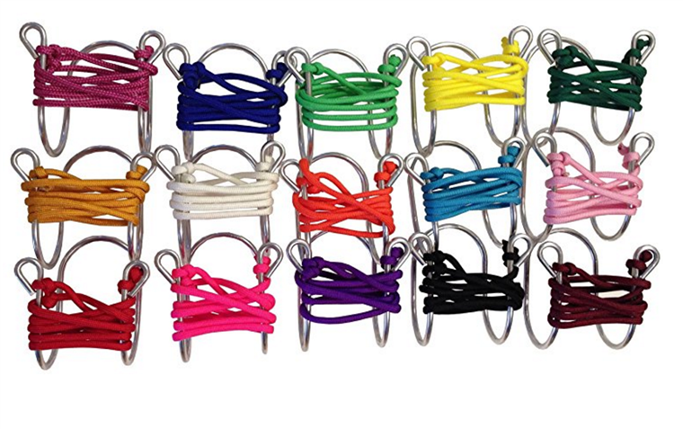 Wino Glass Necklace with Assorted Colored Cords, Aluminum photo